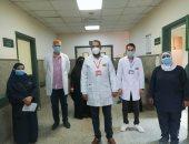 تعافى 6 مصابين بكورونا وخروجهم من مستشفى الواسطي ببنى سويف.. صور