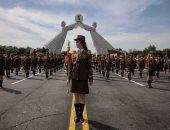 تلفزيون كوريا الشمالية يبث عرضا عسكريا في بيونجيانج