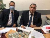 جمارك مطار القاهرة الدولى تضبط محاولة تهريب كمية من النقد الأجنبى