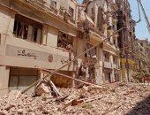 محافظة القاهرة: البحث عن شخصين تحت أنقاض مبنى قصر النيل المنهار