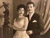 صورة نادرة للفنانة الراحلة شويكار مع زوجها الأول ووالد ابنتها الوحيدة