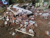 صور جديدة من انهيار عقار شنوان بالمنوفية الذى أسفر عن مصرع سيدة وإصابة 3 أشخاص