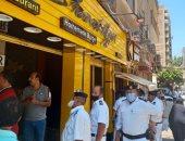 صور.. غلق 10 محلات مخالفة فى حملة لشرطة المرافق بطنطا