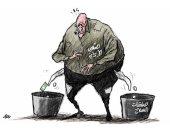 كاريكاتير صحيفة سعودية.. إيران تنفق أموال شعبها لشراء السلاح ودعم الميليشيات
