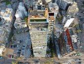 صورة جديدة ترصد دمار المبانى والمنشآت فى بيروت بعد تفجير المرفأ من طائرة درون