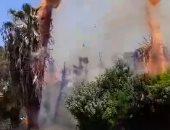 """قارئ يشارك """"صحافة المواطن"""" بصور لحريق أمام مستشفى قصر العينى"""