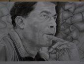 """بالكبير وأحمد زكى.. """"السيد"""" قارئ فنان يشارك بعدد من البورتيرهات الفنية"""