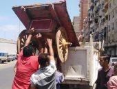 رفع مخالفات إشغالات طريق المحمودية غرب الإسكندرية (صور)