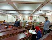 """لجنة من """"الأعلى للجامعات"""" تتابع اختبارات القدرات بجامعة طنطا.. صور"""