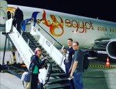 مطار الغردقة الدولى يستقبل رحلة طيران قادمة من بولندا تقل 142 راكبا.. صور