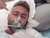نيمار يثير مخاوف جماهير سان جيرمان بصورة على جهاز التنفس قبل نهائي أوروبا