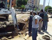 محافظ أسوان يتابع إنهاء أعمال إصلاح خط المياه الرئيسى بكورنيش النيل.. صور