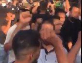 جنازة فى لبنان تتحول لمظاهرة حاشدة ضد حسن نصر الله.. فيديو