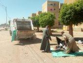 صور.. رفع وإزالة 32 طن مخلفات وقمامة فى حملات نظافة داخل 3 قرى بالأقصر