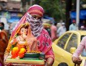 """إله الازدهار والثراء.. شاهد احتفالات الهندوس بعيد """"جانيش"""".. ألبوم صور"""
