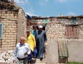 رئيس مدينة الحسينية يعاين منازل الناصرية لبعض الأسر الأولى بالرعاية