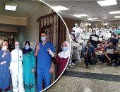 مركز جراحة الكلى بجامعة المنصورة يكرم العاملين لجهودهم فى مكافحة كورونا