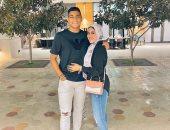مصطفي محمد يوجه رسالة لزوجته بعد هدفه اليوم في شباك الأهلي: وش السعد