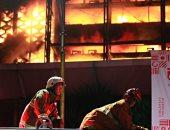 صور.. حريق هائل يدمر مكتب النائب العام الإندونيسى فى جاكرتا