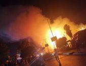 قارئ يشارك صحافة المواطن بصور لحريق هائل أمام حديقة الفسطاط بمصر القديمة