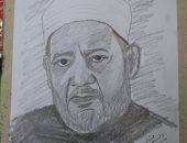 """""""السيد"""" من كفر الشيخ يشارك صحافة المواطن بعدد من البورتريهات الفنية"""