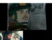 """""""سلمى"""" تشارك صحافة المواطن عددا من اللوحات تبرز موهبتها فى الرسم"""