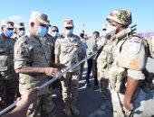 """الفريق محمد فريد يشهد المرحلة الرئيسية لمشروع مراكز القيادة الخارجى """"إعصار 60"""""""