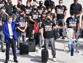 البايرن يعود إلى ميونخ بعد التتويج بدورى أبطال أوروبا.. صور