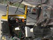 إصابة سائق توك توك صدمته سيارة يقودها طفل فى البدرشين
