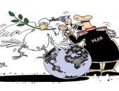 كاريكاتير صحيفة عمانية.. الحرب تقتل السلام بالعالم