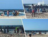 """""""مصايف الإسكندرية"""" تكشف عن جهودها فى إخلاء شاطئ النخيل والمواطنين كر وفر"""