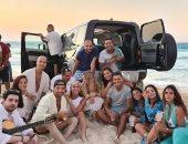 """عمرو دياب ودينا الشربينى فى صورة جديدة من كواليس أغنية """"أماكن السهر"""""""