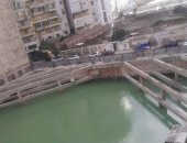 شكوى سكان شارع عارف بزيزينيا الإسكندرية من ارتفاع منسوب المياه الجوفية