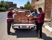 ضبط 3312 عبوة مواد غذائية منتهية الصلاحية قبل طرحها بأسواق الأقصر (صور)