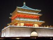 إعادة فتح برج جرس تاريخى عمره 600 عام فى شمال غربى الصين