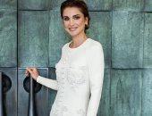 الملكة رانيا بفستان فاخر وبسيط قبل عيد ميلادها الخمسين بتوقيع مصمم سعودى