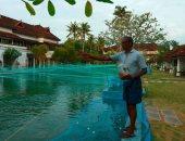 فندق فاخر فى جنوب الهند يحول حمام سباحة إلى مزرعة سمكية لتعويض الخسائر