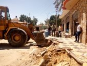 إزالة 7 حالات تعد على التنظيم العمرانى بقرية القسيمة بوسط سيناء