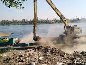 صور.. تنفيذ 6 قرارات إزالة لأسوار وردم لحرم النيل فى حملات تعديات بالأقصر
