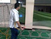 تطهير المسجد الكبير فى عزبة فرج سالم التابعة لمحافظة دمياط فى أول صلاة جمعة