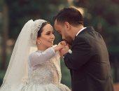 صور جديدة ترسم لوحة من العشق والهوى بحفل زفاف أشهر عروسين من قصار القامة