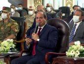 السيسى عن مخالفات البناء: لو الأمر استدعى هخلي الجيش ينزل كل قرى مصر
