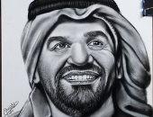"""""""مينا"""" يرسم مجموعة بورتريهات للفنان حسين الجسمى"""