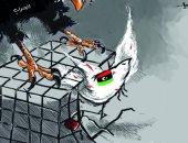 أعداء ليبيا يحاولون اختطاف البلاد نحو الحرب في كاريكاتير صحيفة أردنية