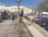 حملات مكثفة لإزالة التعديات بساحة قلعة قايتباى بالإسكندرية