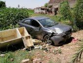 إصابة شخصين فى انقلاب سيارة ملاكى بطريق أرمنت الرياينة غرب الأقصر