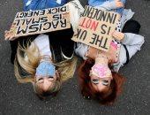 النوم فى الشارع.. أحدث صيحات مظاهرات السيدات فى بريطانيا