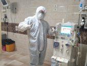 """الجيش الأبيض.. """"ماهر"""" فنى تمريض بمستشفى بنى سويف الجامعى فى مواجهة كورونا"""