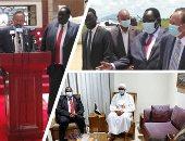 """ساعات على السلام فى أرض النيل.. اتفاق بين الأطراف السودانية ينهى أحد أطول الحروب الأهلية بأفريقيا.. 8 بروتوكولات لتقاسم السلطة والثروة والأرض ودفع التعويضات.. وحمدوك لـ""""سلفاكير"""": لقاؤنا خطوة فى بناء البلاد"""