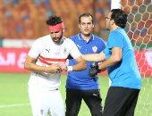 """مشهد إصابة محمود علاء """"نقطة مضيئة"""" فى أزمات مباراة الزمالك والحرس"""